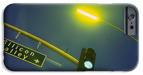 Sign iPhone Cases - Low Angle View Of Traffic Light iPhone Case by Panoramic Images