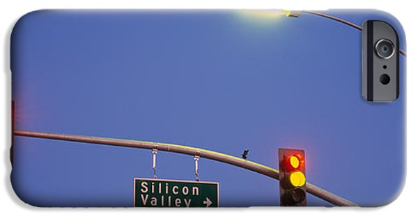 Sign iPhone Cases - Low Angle View Of Traffic Lights iPhone Case by Panoramic Images