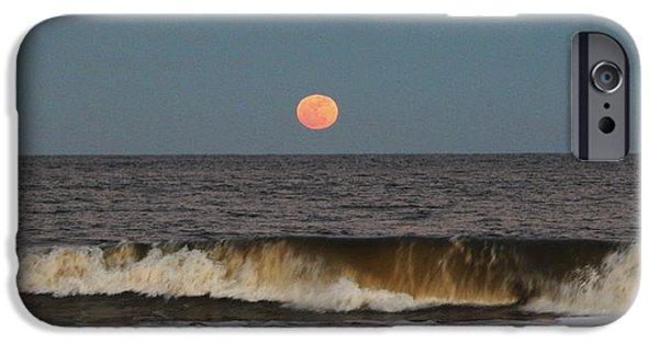 Sea Moon Full Moon iPhone Cases - Low Snow Moon iPhone Case by Seas