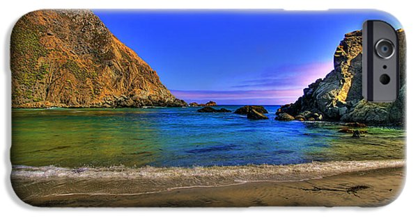 Pfeiffer Beach iPhone Cases - Low Tide At Big Sur iPhone Case by John Absher