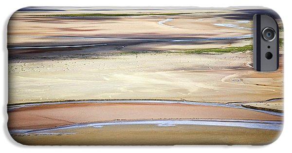 Low Tide iPhone Cases - Low tide in Brittany iPhone Case by Elena Elisseeva