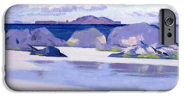 Colorist iPhone Cases - Low Tide  Iona iPhone Case by Francis Campbell Boileau Cadell