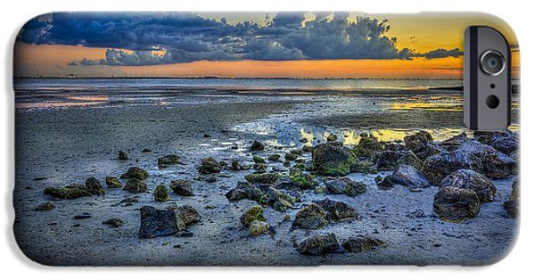Gulf Shores iPhone Cases - Low Tide on the Bay iPhone Case by Marvin Spates