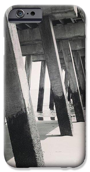 Tybee Island Pier iPhone Cases - Low Tide in Tybee iPhone Case by Jennifer Boisvert