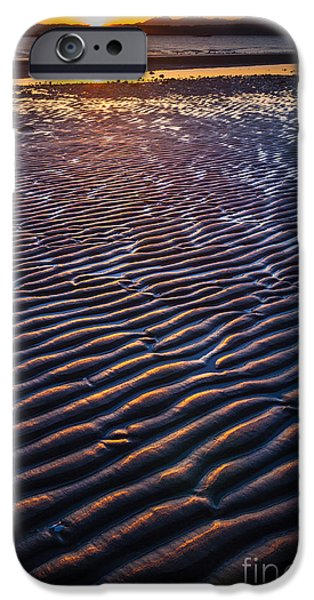 Low Tide iPhone Cases - Low Tide Ripples iPhone Case by Inge Johnsson