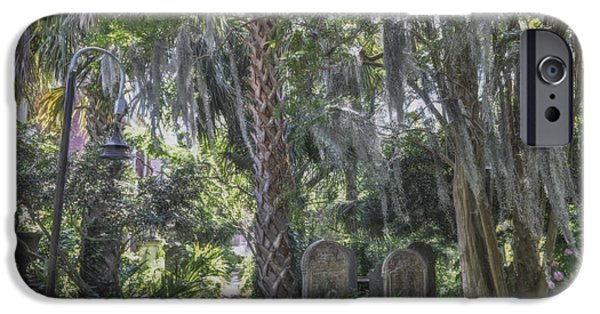 Cemetary iPhone Cases - Lowcountry Cemetary iPhone Case by Dale Powell
