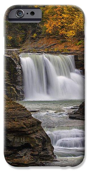 Lower Falls in Autumn iPhone Case by Rick Berk