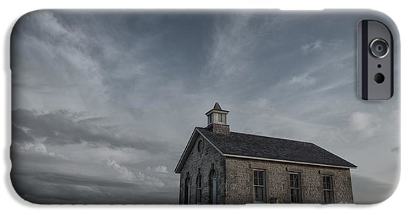 Old School House iPhone Cases - Lower Fox Creek School  iPhone Case by Keith Kapple