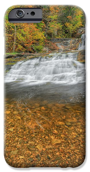 Kent Connecticut iPhone Cases - Lower Kent Falls Portrait iPhone Case by Bill  Wakeley