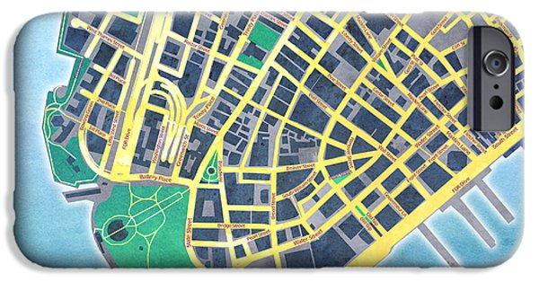 """digital Abstract"" iPhone Cases - Lower Manhattan iPhone Case by Gary Grayson"