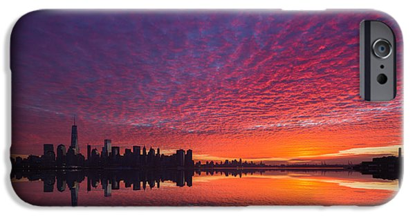 Twin Towers Nyc iPhone Cases - Lower Manhattan  iPhone Case by Michael Ver Sprill