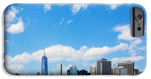 Freedom iPhone Cases - Lower Manhattan New York City iPhone Case by Diane Diederich