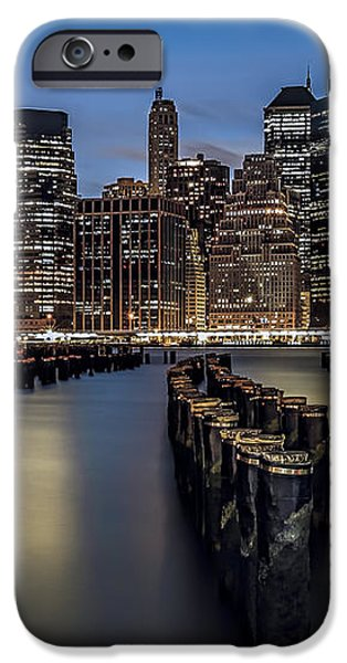 Lower Manhattan skyline iPhone Case by Eduard Moldoveanu