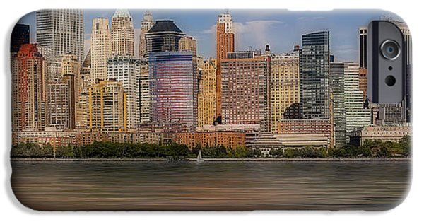 Building iPhone Cases - Lower Manhattan iPhone Case by Susan Candelario