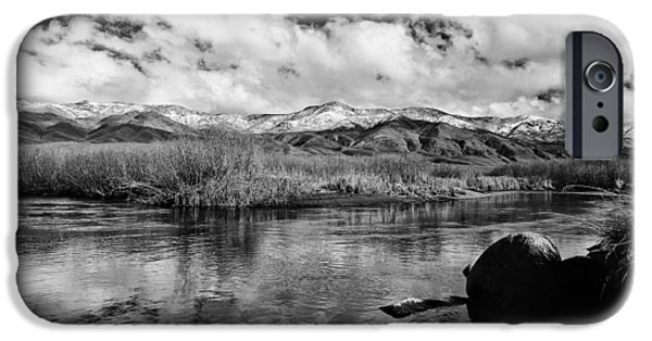 White River iPhone Cases - Lower Owens River iPhone Case by Cat Connor