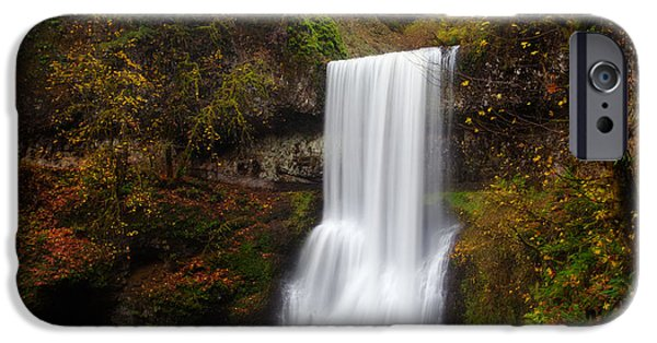 State Parks In Oregon iPhone Cases - Lower South falls iPhone Case by Engin Tokaj