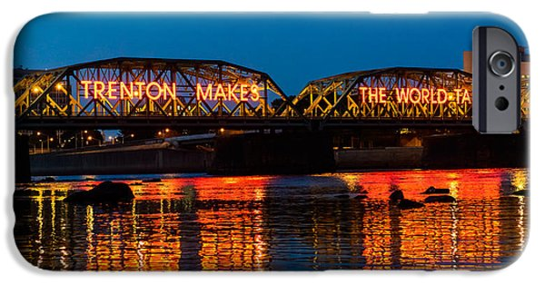 New Jersey iPhone Cases - Lower Trenton Bridge iPhone Case by Louis Dallara