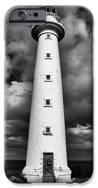 Lighthouse Pyrography iPhone Cases - Lowly Point Lighthouse iPhone Case by Ambro Fine Art
