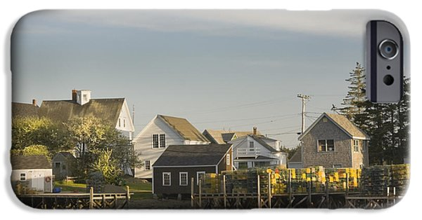 East Village iPhone Cases - Lowtide in Port Clyde Maine iPhone Case by Keith Webber Jr