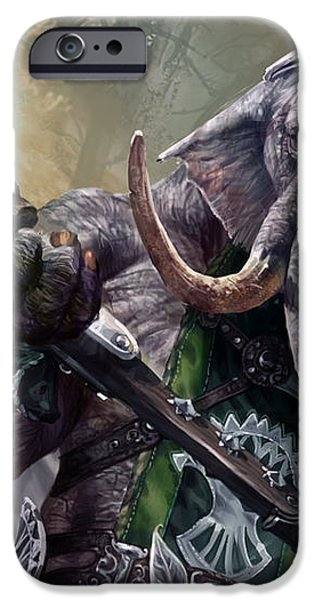 Loxodon Smiter iPhone Case by Ryan Barger