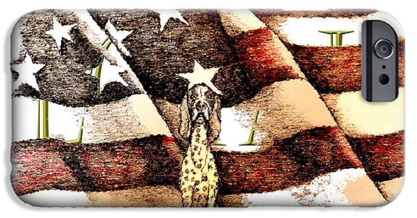 Old Glory Drawings iPhone Cases - Loyal iPhone Case by C F  Legette
