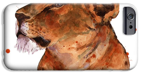 Lioness iPhone Cases - Loyal Lion iPhone Case by Alison Fennell