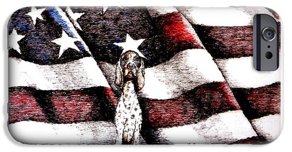 Old Glory Drawings iPhone Cases - Loyal New Edition iPhone Case by C F  Legette