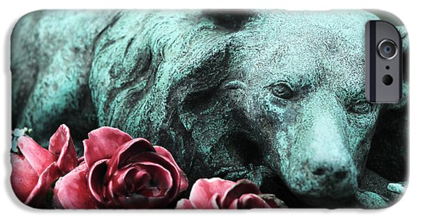 Headstones iPhone Cases - Loyal Throughout Eternity iPhone Case by John Rizzuto