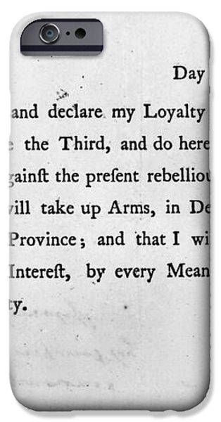 LOYALIST OATH, 1779 iPhone Case by Granger