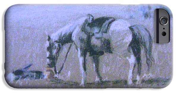War Pastels iPhone Cases - Loyalty iPhone Case by Gretchen Allen
