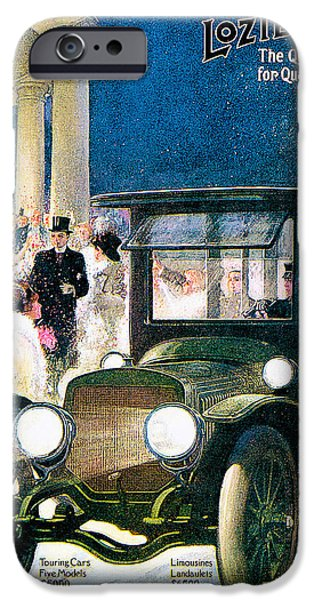 Snow Scene iPhone Cases - Lozier iPhone Case by Vintage Automobile Ads and Posters