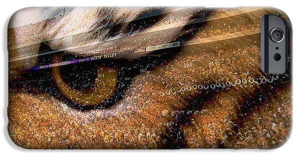 Mike The Tiger iPhone Cases - LSU - Eye Of The Tiger iPhone Case by Elizabeth McTaggart