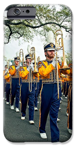 Lsu iPhone Cases - LSU Marching Band 3 iPhone Case by Steve Harrington
