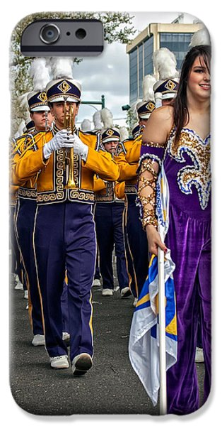 Louisiana State University iPhone Cases - LSU Marching Band 5 iPhone Case by Steve Harrington