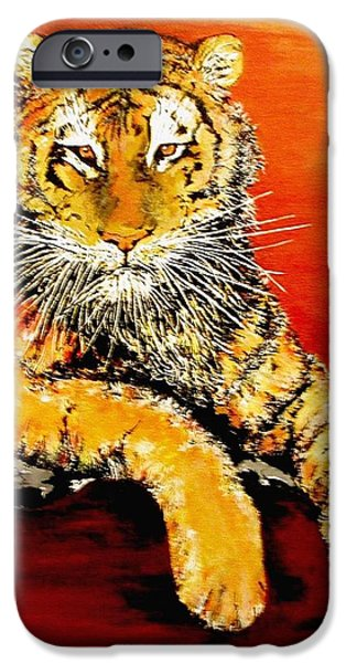 Mike The Tiger iPhone Cases - LSU Tiger iPhone Case by Stephen Broussard