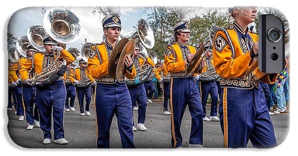Louisiana State University Photographs iPhone Cases - LSU Tigers Band 2 iPhone Case by Steve Harrington