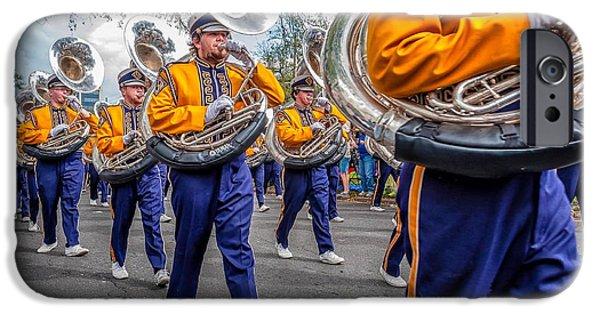 Louisiana State University Photographs iPhone Cases - LSU Tigers Band iPhone Case by Steve Harrington