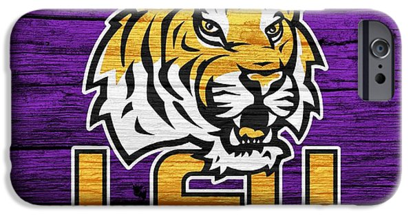 Recently Sold -  - The Tiger iPhone Cases - LSU Tigers Barn Door iPhone Case by Dan Sproul