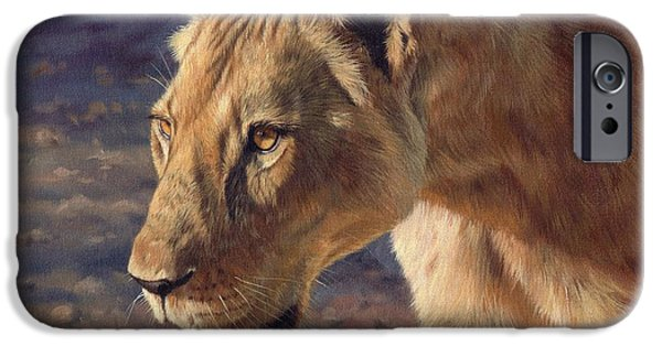 Lioness iPhone Cases - Luangwa Princess  iPhone Case by David Stribbling