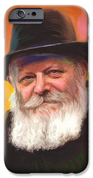 Oil Paintings iPhone Cases - Lubavitcher Rebbe iPhone Case by Sam Shacked