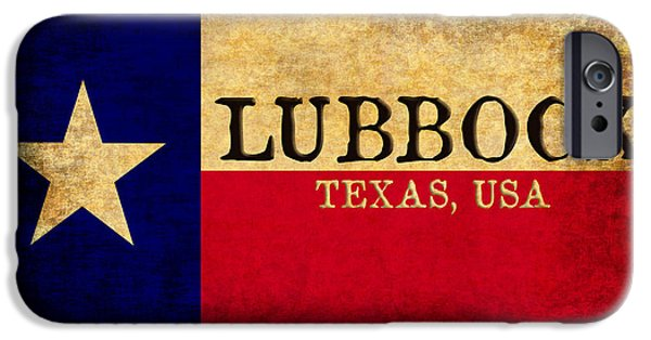 Recently Sold -  - Red Rock iPhone Cases - Lubbock Texas U.S.A. State Flag Vintage iPhone Case by Karl Jones