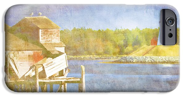 East Quoddy Lighthouse iPhone Cases - Lubec Maine to Campobello Island iPhone Case by Carol Leigh