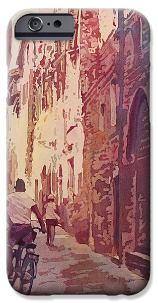 Tuscan Road iPhone Cases - Lucca iPhone Case by Jenny Armitage