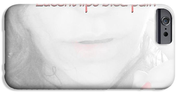 Self Discovery iPhone Cases - Lucent Lips iPhone Case by Charlotte  DiSipio-Grillo