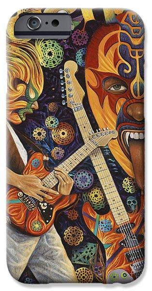 Van Halen iPhone Cases - Lucha Rock iPhone Case by Ricardo Chavez-Mendez