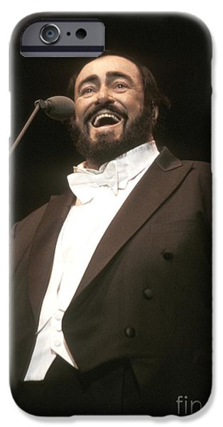 Operatic iPhone Cases - Luciano Pavarotti iPhone Case by Front Row  Photographs