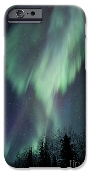 Aurora iPhone Cases - Lucid Dream iPhone Case by Priska Wettstein