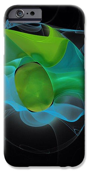 Lucid Mint iPhone Case by Hanza Turgul
