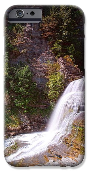 Lucifer iPhone Cases - Lucifer Falls II In Robert H. Treman State Park New York iPhone Case by Paul Ge