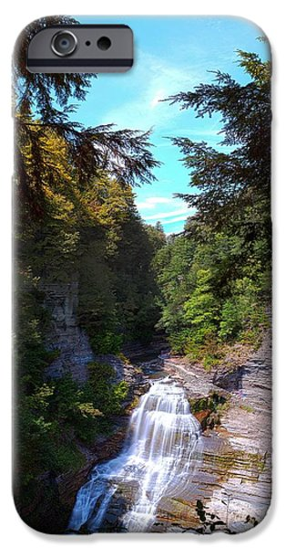Lucifer iPhone Cases - Lucifer Falls in Robert H. Treman State Park New York iPhone Case by Paul Ge